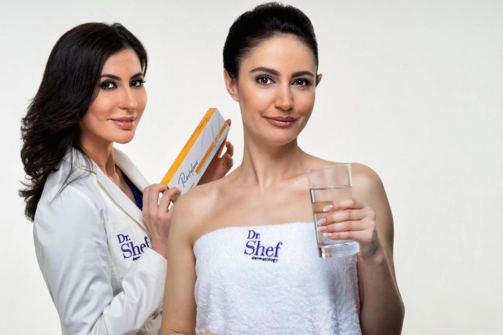 Image of a doctor holding skinbooster